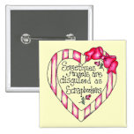 Angel Heart Scrapbooker Tshirts and Gifts 2 Inch Square Button