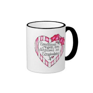Angel Heart Scrapbooker Tshirts and Gifts Ringer Coffee Mug