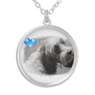 Angel heart Tibetan Terrier Locket Necklace