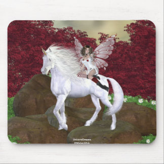 Angel Heart Unicorn White Beauty 2 Mouse Pad