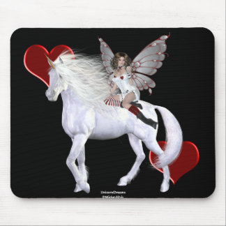 Angel Heart Unicorn White Beauty 3 Mouse Pad