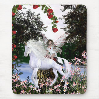Angel Heart Unicorn White Beauty 4 Mouse Pad