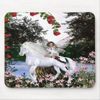 Angel Heart Unicorn White Beauty 4 Mouse Pads