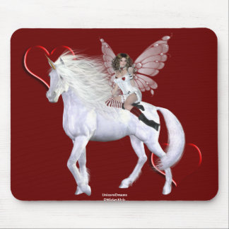 Angel Heart Unicorn White Beauty 5 Mouse Pad