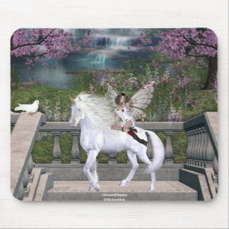 Angel Heart Unicorn White Beauty 6 Mouse Pad