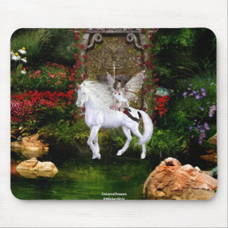 Angel Heart Unicorn White Beauty 7 Mouse Pad