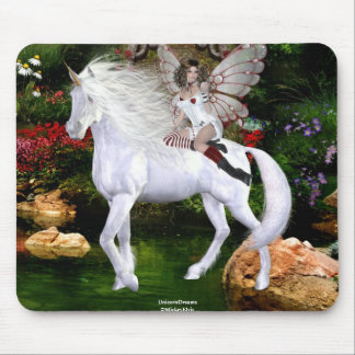 Angel Heart Unicorn White Beauty 8 Mouse Pad