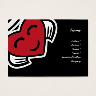 Angel heart valentine Business Card