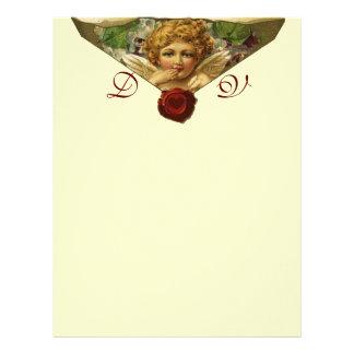 ANGEL HEART WAX SEAL Monogram Cream Letterhead