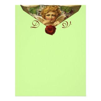 ANGEL HEART WAX SEAL Monogram Green Letterhead