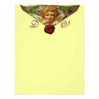 ANGEL HEART WAX SEAL Monogram Yellow Letterhead