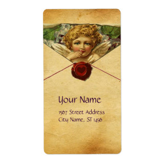 ANGEL HEART WAX SEAL PARCHMENT LABEL