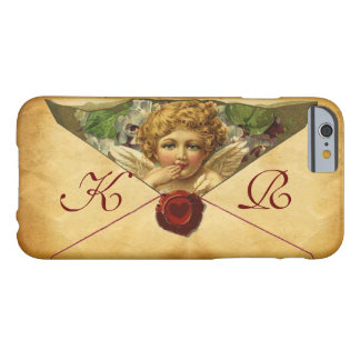 ANGEL HEART WAX SEAL PARCHMENT Monogram Barely There iPhone 6 Case