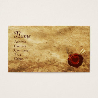ANGEL HEART WAX SEAL PARCHMENT Monogram Business Card