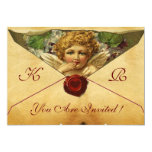 ANGEL HEART WAX SEAL PARCHMENT MONOGRAM CARD