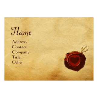 ANGEL HEART WAX SEAL PARCHMENT Monogram Large Business Card
