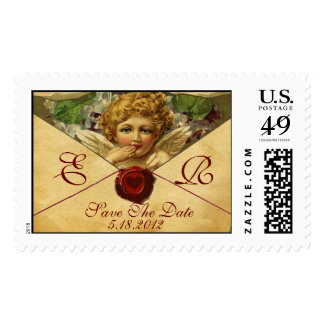 ANGEL HEART WAX SEAL PARCHMENT Monogram Stamps