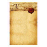 ANGEL HEART WAX SEAL PARCHMENT Monogram Custom Stationery