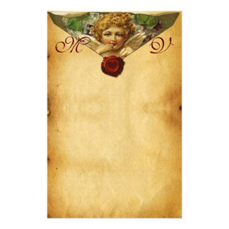 ANGEL HEART WAX SEAL PARCHMENT Monogram Stationery
