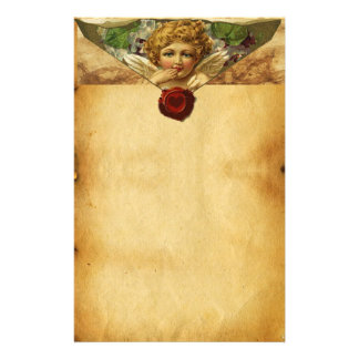 ANGEL HEART WAX SEAL PARCHMENT STATIONERY