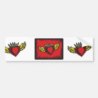 Angel Heart with Border Bumper Sticker