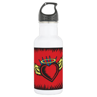 Angel Heart with Border Stainless Steel Water Bottle