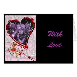 angel heart, With Love Card
