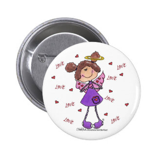 Angel Hearts Pinback Buttons
