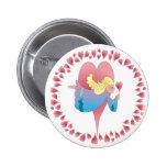 ANGEL HEARTS by SHARON SHARPE 2 Inch Round Button