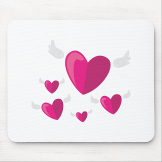 Angel Hearts Mouse Pad