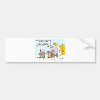 angel heaven mustache saint peter bumper sticker