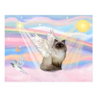 Ángel Himalayan del gato del punto del chocolate Tarjetas Postales