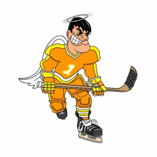 Angel Hockey Player Photo Cutouts