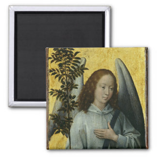 Angel Holding an Olive Branch 2 Inch Square Magnet