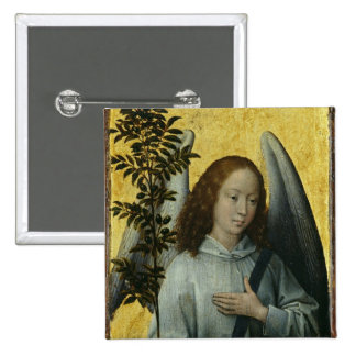 Angel Holding an Olive Branch Button