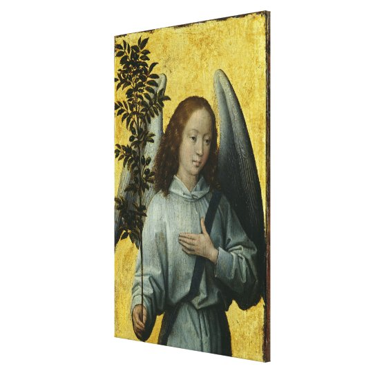 Angel Holding an Olive Branch Canvas Print