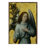 Angel Holding an Olive Branch Poster