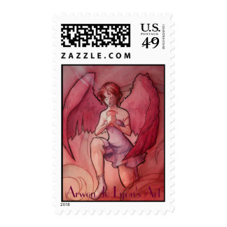 Angel Holding Cup 1 Postage Stamps