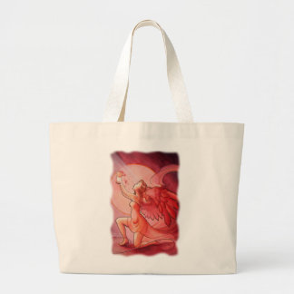 Angel Holding Cup 2 Canvas Bags