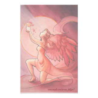 Angel Holding Cup 2 Stationery