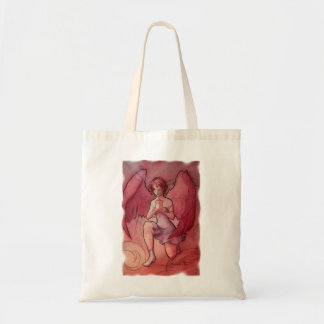 Angel Holding Cup Canvas Bags