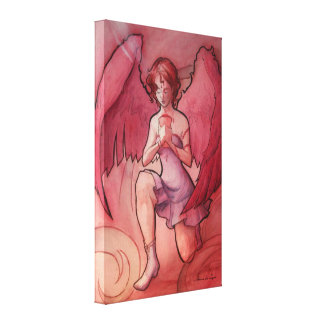 Angel Holding Cup Stretched Canvas Prints