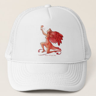 Angel Holding Cup Simplified Trucker Hat