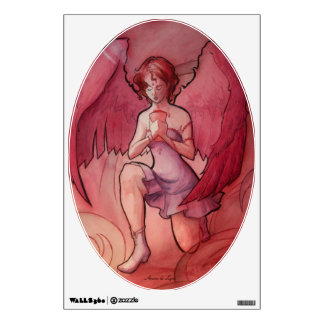 Angel Holding Cup Wall Decals