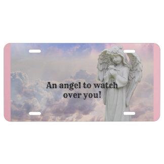 Angel Holding Flower License Plate
