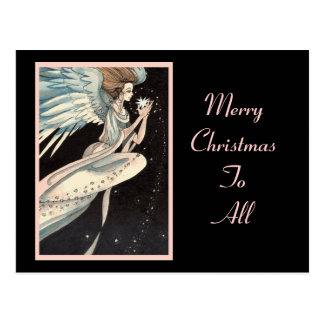 Angel Holding Star Postcard