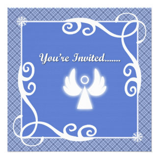 Angel Holiday Party Invitations