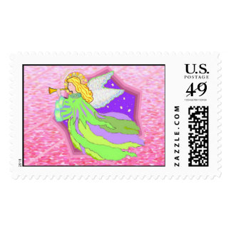 Angel Holiday Postage Stamps