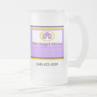 Angel House facing, (248) 622-0359 Frosted Glass Beer Mug
