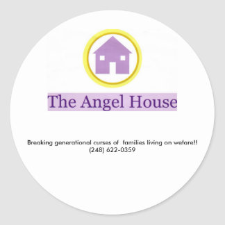angel house logo, Breaking generational curses ... Classic Round Sticker